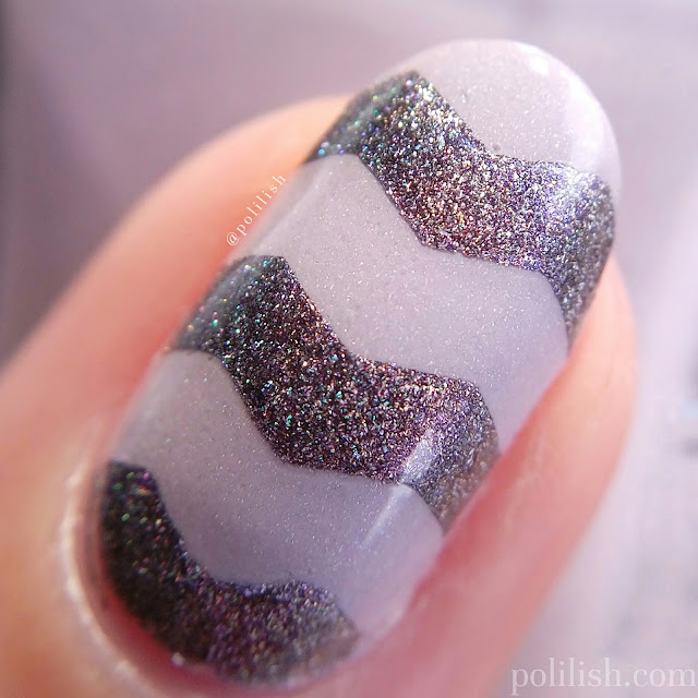 Zig zag nail art with A-England Cathy and Kalinka | polilish