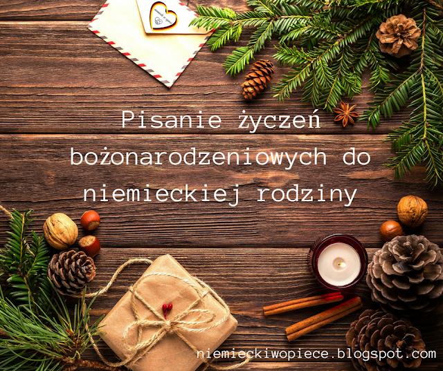 Pisanie życzeń bożonarodzeniowych do niemieckiej rodziny!