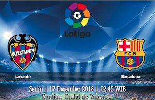 Prediksi Levante Vs Barcelona 17 Desember 2018
