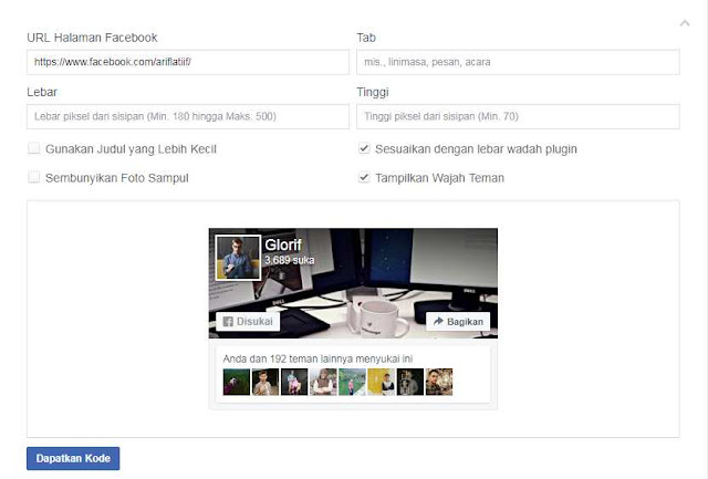 Cara Memasang Widget Fans Page Facebook di Blog