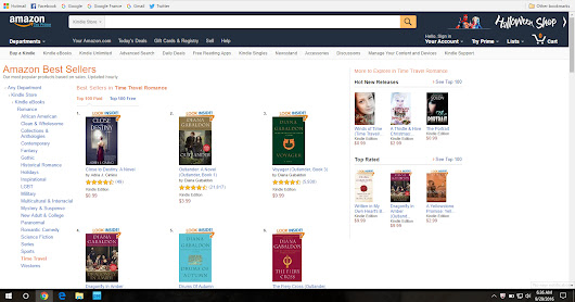 #1 in Time Travel Romance! Thank you, Readers!