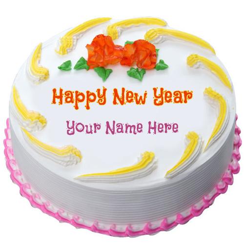 Beautiful Happy New Year cake