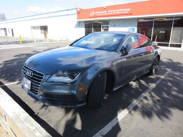Audi A7 in for collision repairs at Almost Everything Auto Body