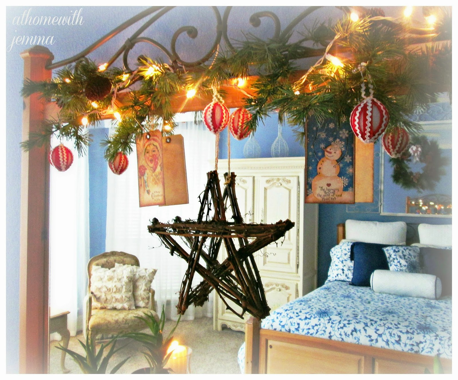 decorating, home, bedroom, mirror, dresser, for Christmas