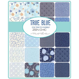 Moda True Blue Fabric by Zen Chic for Moda Fabrics