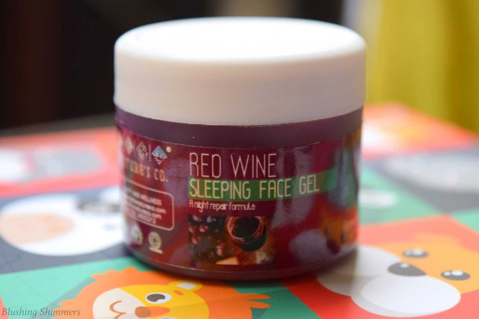 The Natures Co Red Wine Sleeping Face Gel