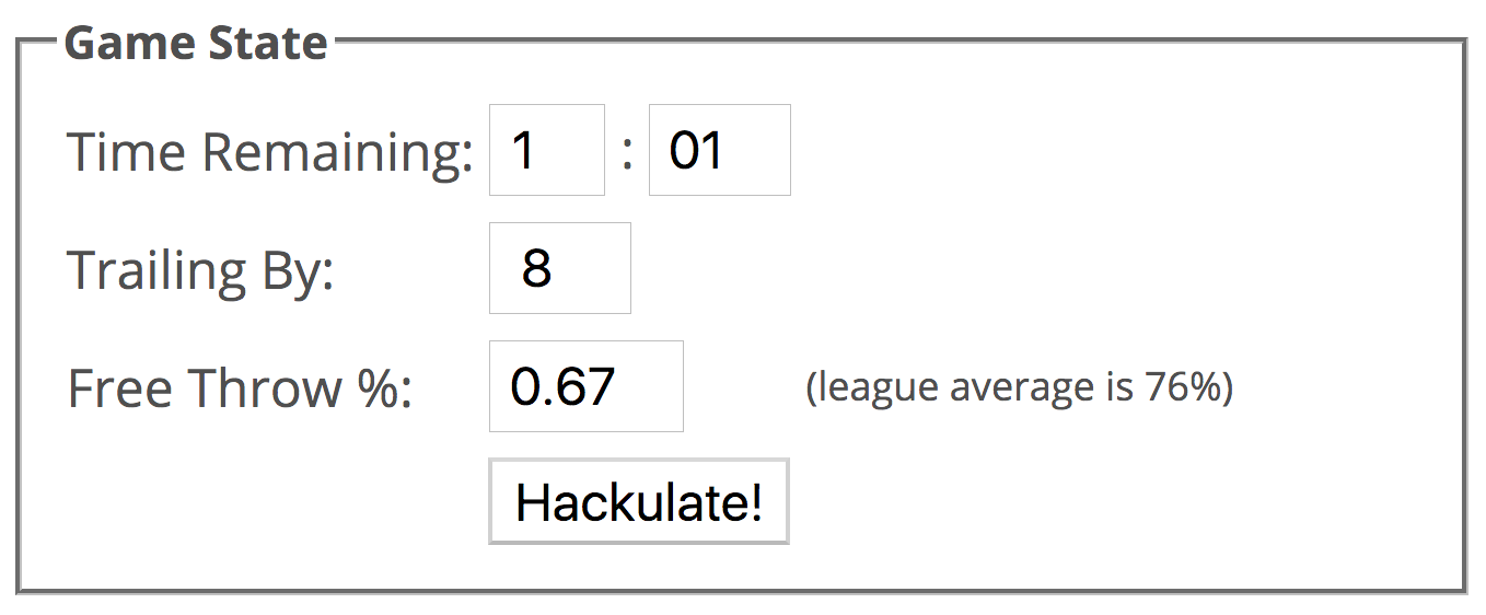 The Hackulator: A Win Probability Based Guide for When to