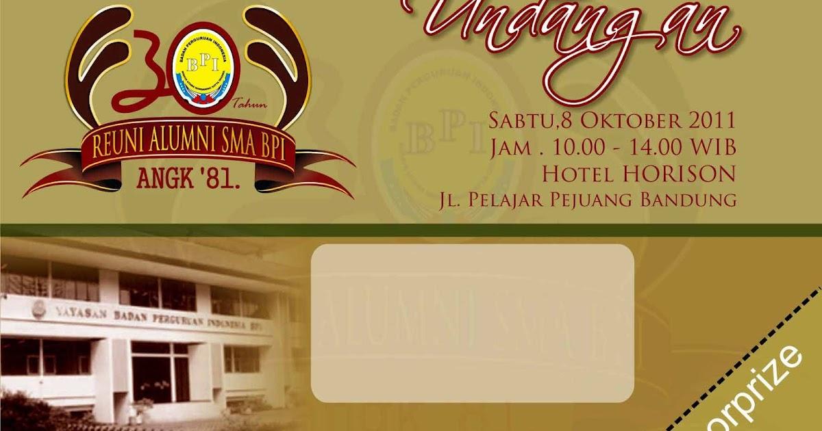 Desain Foto Desain Gambar Desain Undangan Reuni Alumni Sma Bpi