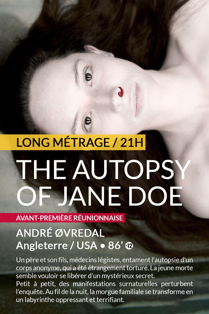 THE AUTOPSY OF JANE DOE : samedi 25 février à 21h