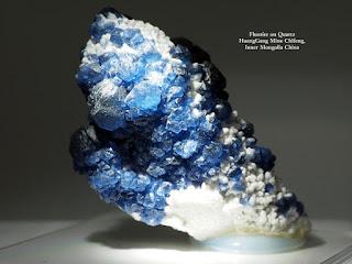 Fluorite on Quartz Huanggang Mine chifeng inner Mongolia China
