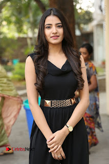 Telugu Actress Rukhsar Mir Stills in Black Long Dress at Aakatayi Movie First Look Launch  0097.JPG