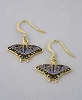blue swallowtail butterfly earrings gold