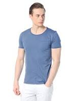 Mavi tişört kombin