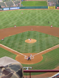First pitch, Angels vs. Rangers