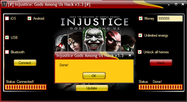 injustice gods among us android app cheats