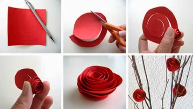 Cara Membuat Bunga Mawar Cantik Dari KertasKreasi dan