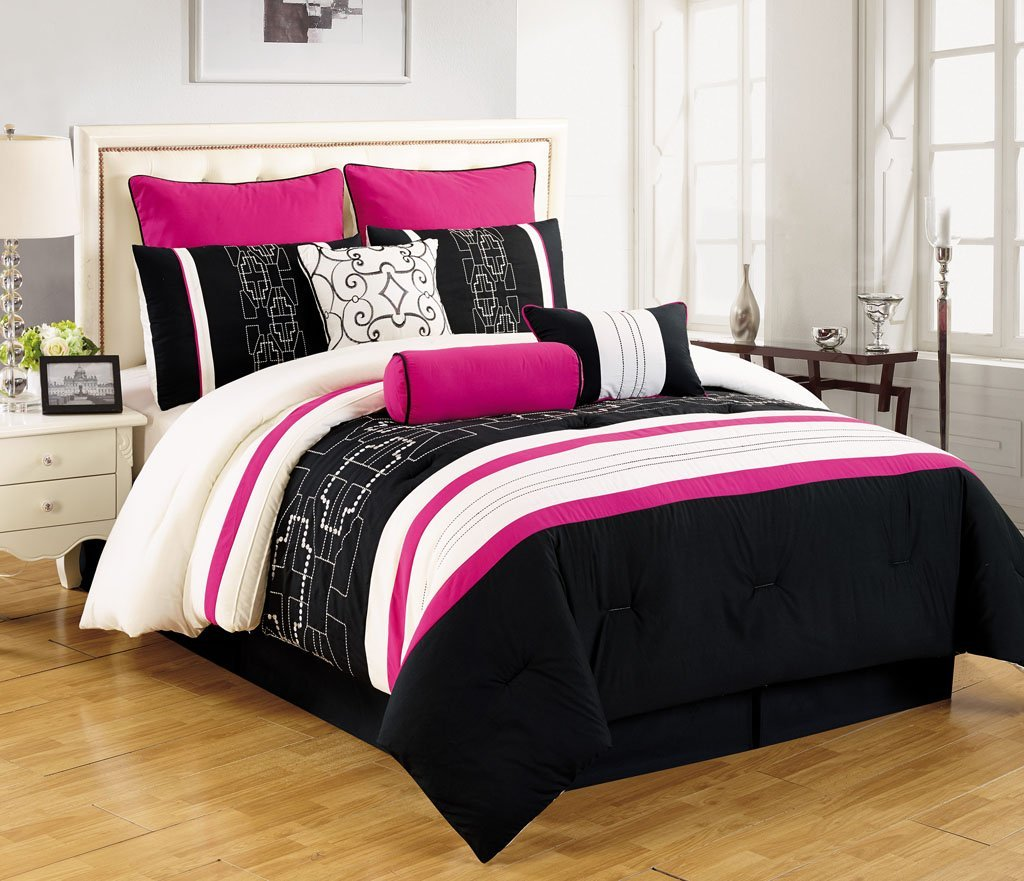 Pink Black And White Bedding Sets For Girls, Tweens And Teens