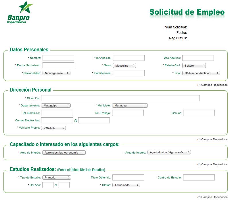 Bolsa de trabajo banpro for Ofertas de empleo en la linea