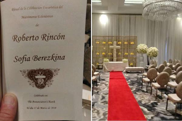 La humilde boda del hijo del chaburro ladrón Roberto Rincón