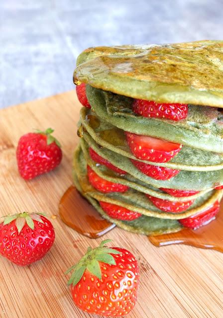 3 Ingredient Super Green Pancakes