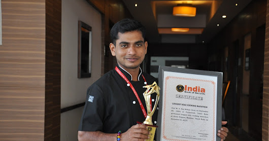 LONGEST SOLO COOKING MARATHON BY CHEF M.S.RAJ MOHAN