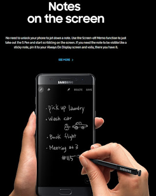 fitur Galaxy Note 7