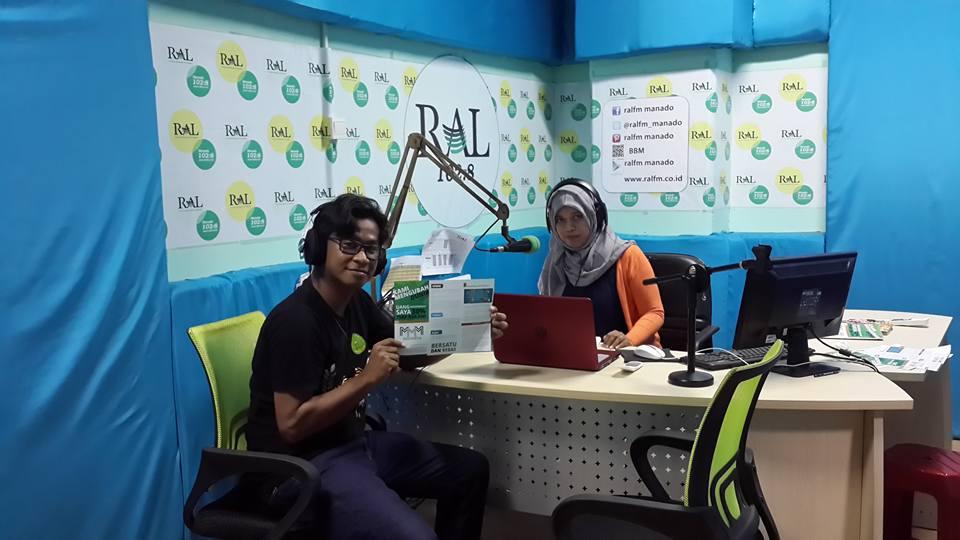 Bedah sistem MMM Indonesia di Radio RAL FM Manado