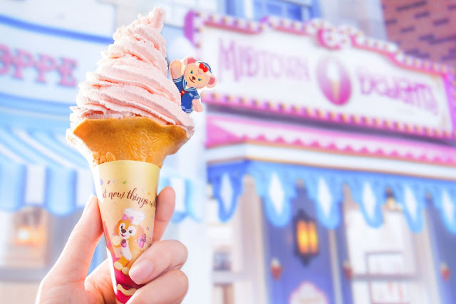 小鎮雪糕店 ShellieMay白桃軟雪糕 White Peach flavor with ShellieMay Chocolate Plate 放玩奇妙當夏 香港迪士尼樂園度假區 反斗奇兵大本營 Hong Kong Disneyland Resort Summer Chill
