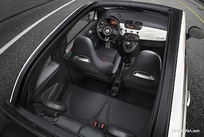 Fiat 500c Abarth Cabrio inside