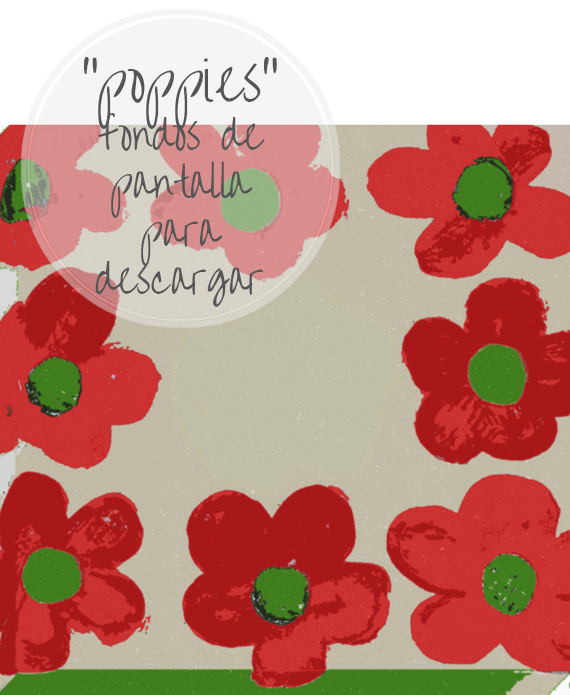 "FREE WALLPAPERS nº2: ""poppies"", amapolas"