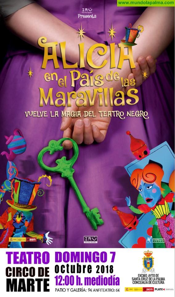 La magia del teatro negro regresa al Circo de Marte con la compañía Irú y su versión de 'Alicia en el País de las Maravillas'