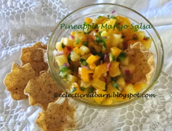 Eclectic Red Barn: Pineapple mango salsa