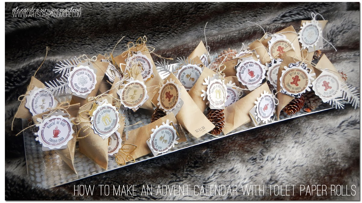 Tuto Calendrier De Lavent Scrapbooking.Art Scrap More 4enscrap How To Make An Advent Calendar
