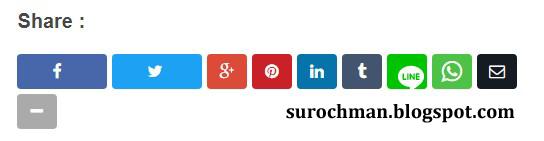 Cara Membuat Tombol Share FB, Twitter, Pinterest, LinkedIn, Tumblr, Line, WhatsApp, BBM, dan Email pada Blog