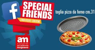 Logo Vinci gratis Teglia pizza antiaderente Accademia Mugnano
