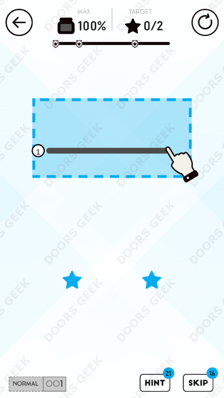 Draw Here 1 Solution, Walkthrough, Cheats for Android, iPhone, iPad and iPod