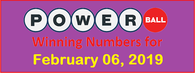 PowerBall Winning Numbers for Wednesday, 06 February 2019