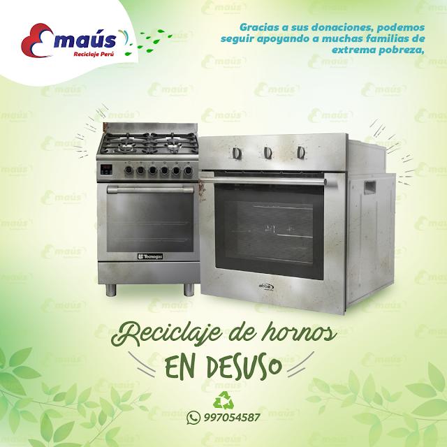 Reciclaje de hornos en desuso  - Emaús Reciclaje Perú
