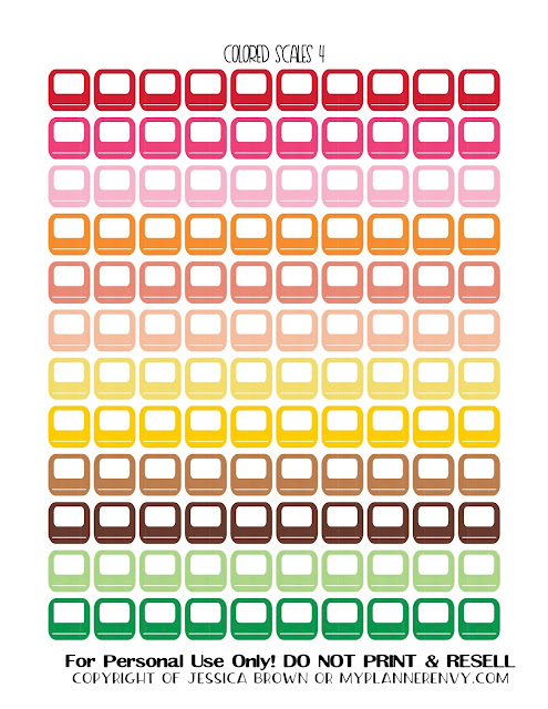 Free Printable Colored Bathroom Scales 4 from myplannerenvy.com