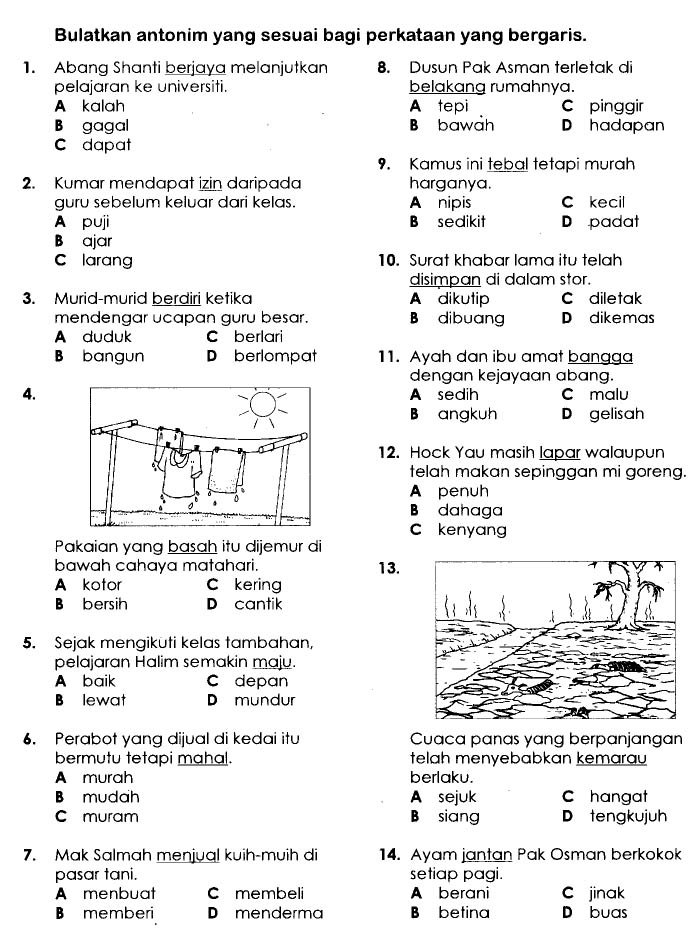 Marilah Belajar Bahasa Malaysia Latihan