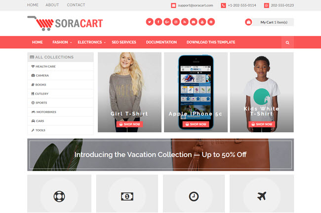 Sora Cart – Responsive Shop Blogger Template