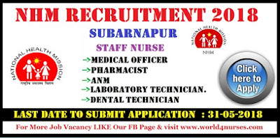 NHM Recruitment 2018 Medical Office ,Pharmacist, ANM, Laboratory Technician, Treatment Supervisor Posts