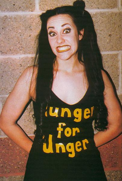 'Hunger for Unger' shirt worn by Daffney in WCW pro wrestling. PYGear.com