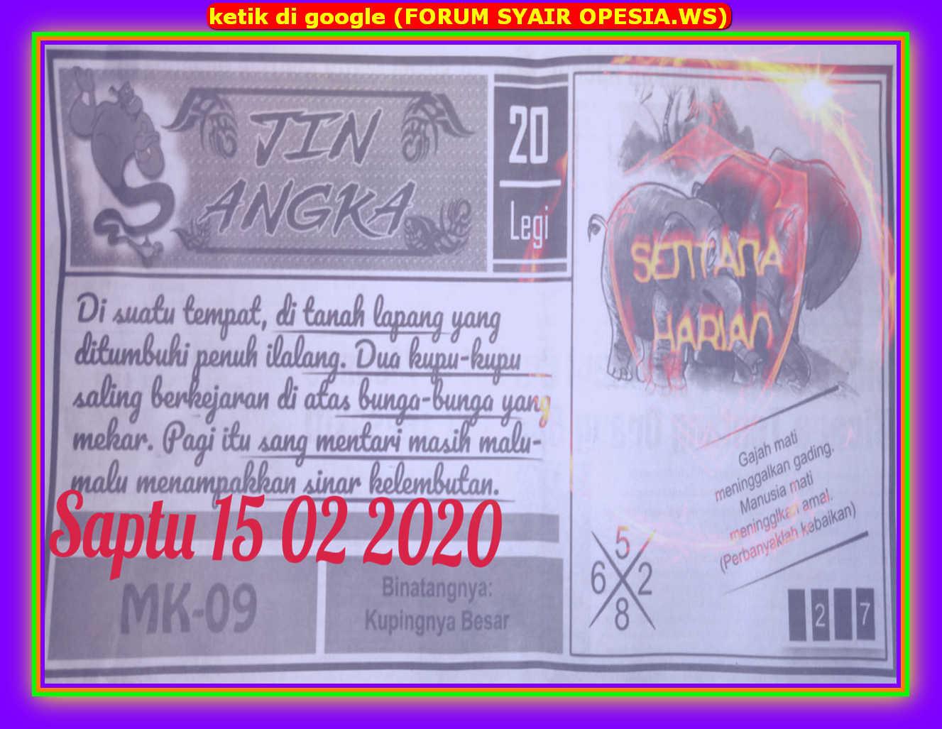 Kode syair Sydney Sabtu 15 Februari 2020 24
