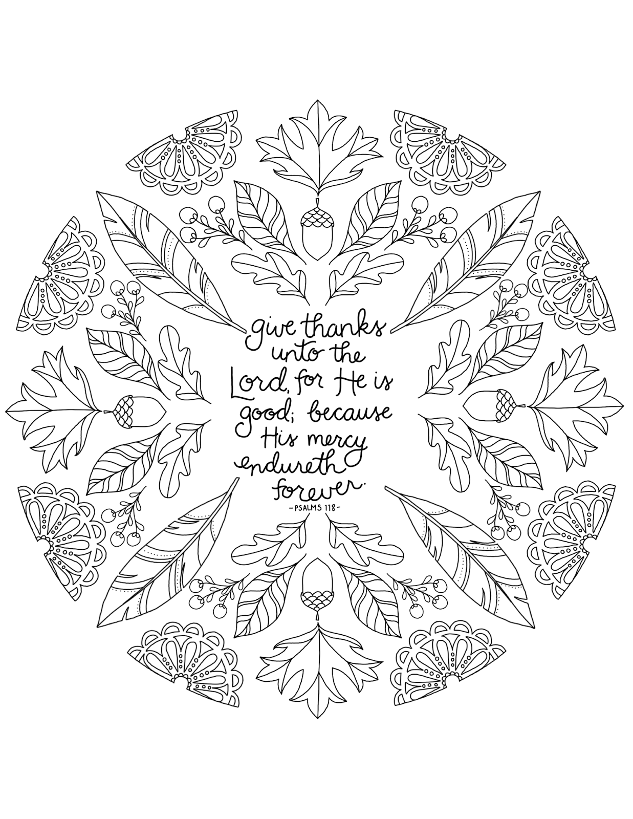 Just What I Squeeze In Give Thanks Unto The Lord Free Give Thanks To The Lord Coloring Page