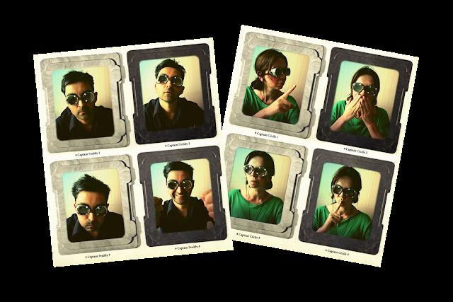 Photos d'identités stylisées retro des capitaines de la Maison d'édition de Cartes postales d'Art et de Tirages d'Art LE CARGO VOLANT