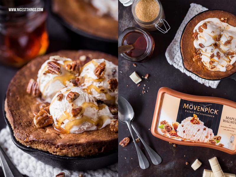 Rezept mit Maple Walnuts Eis: Blondies mit Ahornsirup und karamellisierten Nüssen