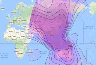 Beam Coverage Satellite ChinaSat 6A 125.0°E C Band