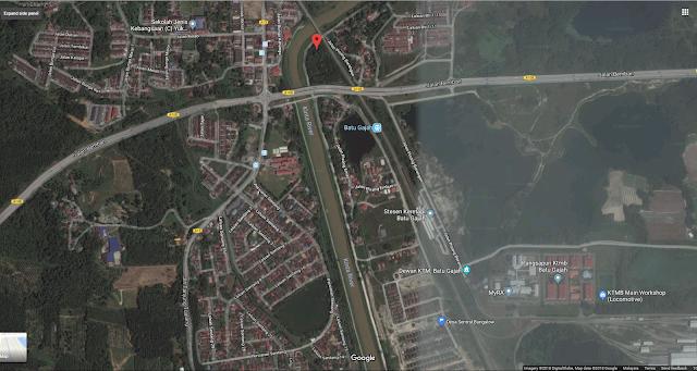 Peta : Kedudukan Desa Sentral Batu Gajah Perak