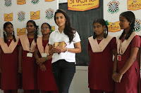 Actress Priya Anand in T Shirt with Students of Shiksha Movement Events 54.jpg